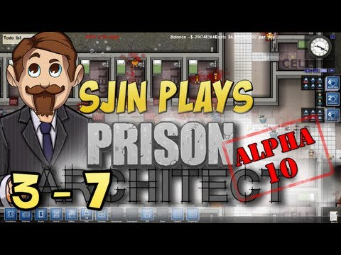 Prison Architect Alpha #10 - 3 - 7:  Eight New Inmates