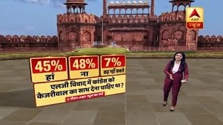Delhi Ka Mood: Congress should support AAP in Kejriwal-LG row? Know public opinion - ABPNEWSTV