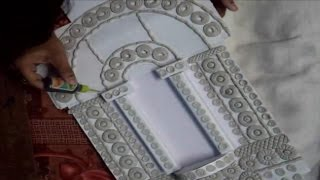 Jharokha mural work a rajasthani window design art part for Mural work using m seal