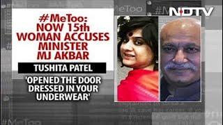 """Opened Door In Your Underwear"": Another Woman Comes Out Against MJ Akbar - NDTV"