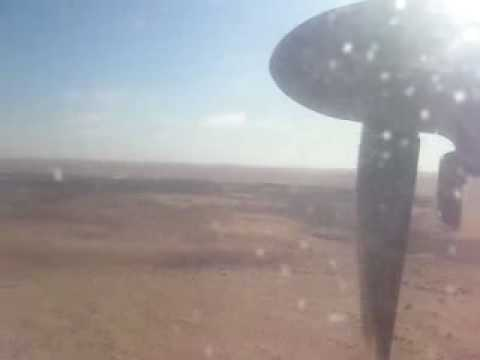 Touggourt. Atterrissage d'avion à l'Aéroport de Touggourt مطار تقرت