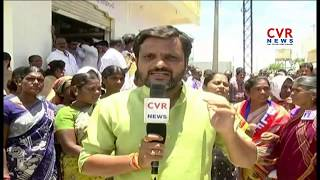Congress Leaders Protest Against TRS MPP Gopi Kicking Women | Nizamabad | CVR News - CVRNEWSOFFICIAL