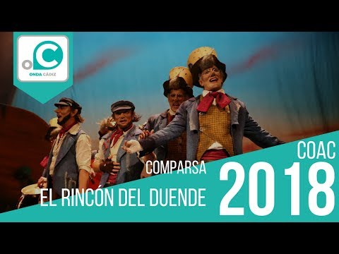 La agrupación El rincón del duende llega al COAC 2018 en la modalidad de Comparsas. En años anteriores (2017) concursaron en el Teatro Falla como Los depredadores, consiguiendo una clasificación en el concurso de Semifinales.