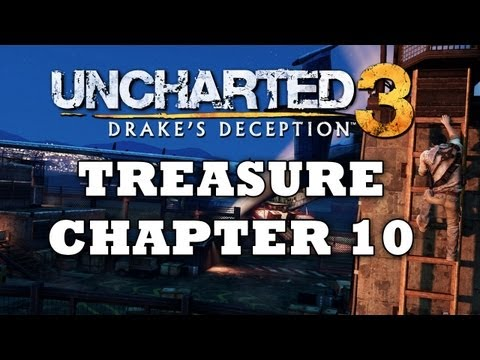 Uncharted 3 Treasure Locations: Chapter 10 [HD]