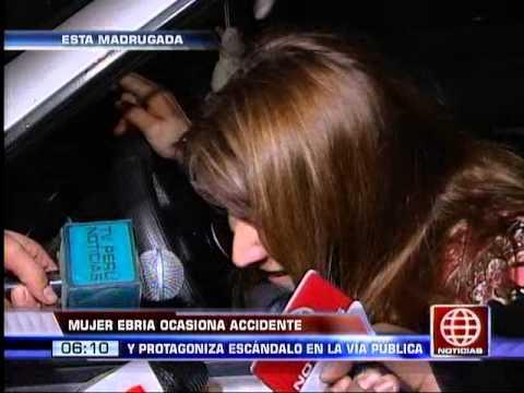 América Noticias: Mujer ebria causó accidente de tránsito y protagonizó escándalo en la vía pública