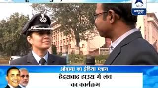 Guard of Honour: Air Force wing commander Pooja Thakur leads Guard of Honour - ABPNEWSTV