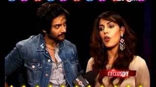 Rhea Chakraborthy and Ali Fazal draw filmy rangoli with zoOm! - EXCLUSIVE