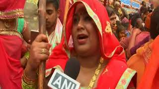 25 Feb, 2018: Women in northern India beat up men with sticks to celebrate festival of colours - ANIINDIAFILE