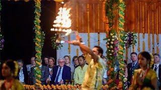 German President Frank-Walter Steinmeier attends Ganga aarti in Varanasi - TIMESOFINDIACHANNEL