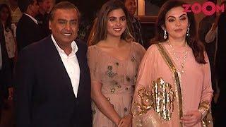 Mukesh, Nita & Daughter Isha Ambani At Priyanka-Nick's Engagement Roka Party - ZOOMDEKHO