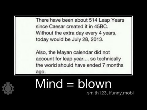 Re: Leap Years, 2012 & The Mayan Calendar