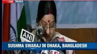 Bangladesh: Sushma Swaraj in Dhaka, says crisis in Dhaka on agenda - NEWSXLIVE
