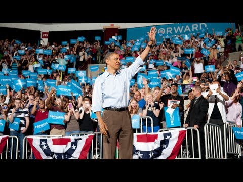 "President Obama at the first 2012 rally: ""...it's still about hope. It's still about change."""