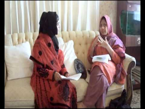 Khadija Mahmood with Ruby Hussain Hyder talking about Nasirabad Ghufraanmaab Foundation.