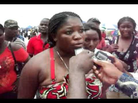 Desabafo de uma Mulher Angolana no Mercado do Panguila no Municipio de Cacuaco, quando da Visita da Ministra Genoveva Lino no Mercado