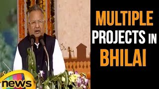 CM Raman Singh Speech at Multiple projects in Bhilai, Chhattisgarh | PM Modi | Mango News - MANGONEWS