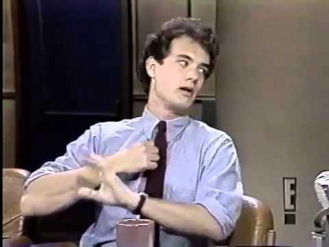Jerzy Kosiński i Tom Hanks w programie Davida Lettermana (1984 rok)
