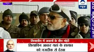 Modi hails bravery of soldiers in Siachen l Celebrates diwali with them - ABPNEWSTV