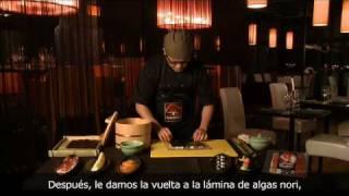 Roll mediterráneo con jamón ibérico
