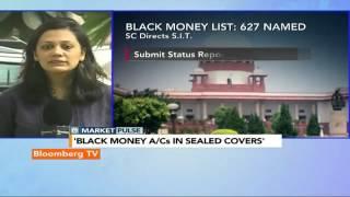 Market Pulse: 627 Named In The Black Money List - BLOOMBERGUTV