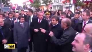 أردوغان يطبق حظر التدخين بنفسه في احد شوارع اسطنبول