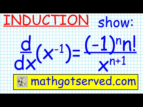 #14 proof prove nth derivative of x^-1 is  ( (-1)^n n !)/ x^(n+1) by induction