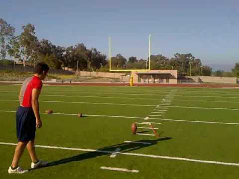 High School Kicker Kicks 60 Yard Field Goal and 55, 50, 45, 43