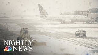 Nor'Easter Causes Travel Cancellations, Frustrating Passengers | NBC Nightly News - NBCNEWS