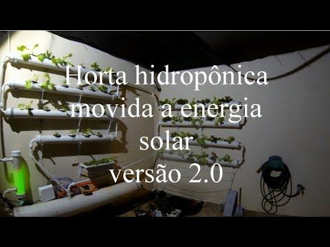 Horta Hidroponica movida a energia solar - Versão 2 - Upgrade