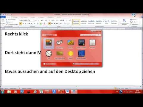 Minianwendungen installiren bei Windows7
