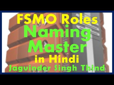 Active Directory Server 2008 Part 21 FSMO Roles Part 3 Domain Naming in Hindi JagvinderThind