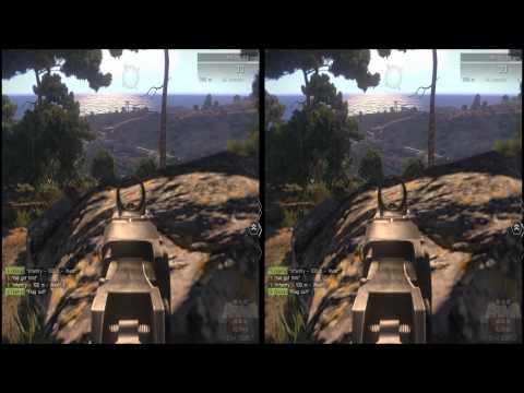 Arma III Alpha Oculus Rift Cinemizer OLED head tracker 1080p 3D test 1
