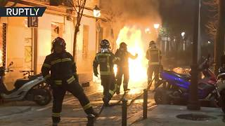 Street riot tears through Madrid neighbourhood following death of street vendor - RUSSIATODAY