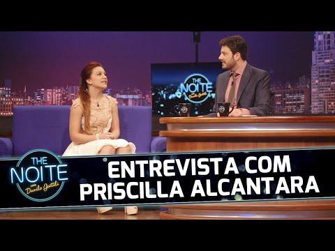 Priscilla Alcantara no The Noite com Danilo Gentili no SBT - Entrevista