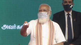 प्रधानमंत्री नरेंद्र मोदी ने कोयम्बटूर में विभिन्न परियोजनाओं का उद्घाटन किया