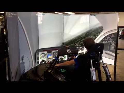 5 Screen Flight Simulator Test