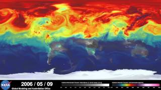 فيديو مدهش لناسا يوضح كيف ينتشر غاز ثاني أكسيد الكربون في غلاف الأرض