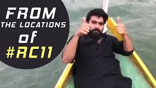 Ram Charan From The Locations Of #RC11 | Superb Video | TFPC - TFPC