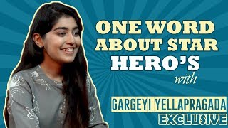 One Word About Star Hero's With Gargeyi Yellapragada | TFPC - TFPC