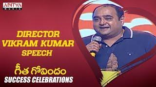 Director Vikram Kumar  @ Geetha Govindam Success Celebrations Live    Vijay Devarakonda, Rashmika - ADITYAMUSIC