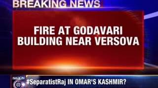 Fire on a 11 storey Mumbai building - NEWSXLIVE