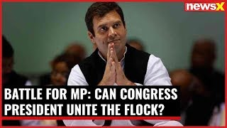 Battle for MP: Rahul Gandhi to campaign in MP; can Congress President unite the flock? - NEWSXLIVE