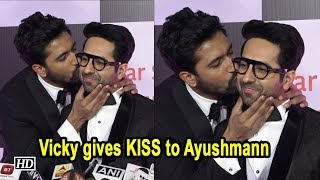 Vicky gives KISS on Ayushmann's Cheeks | BROMANCE - IANSINDIA