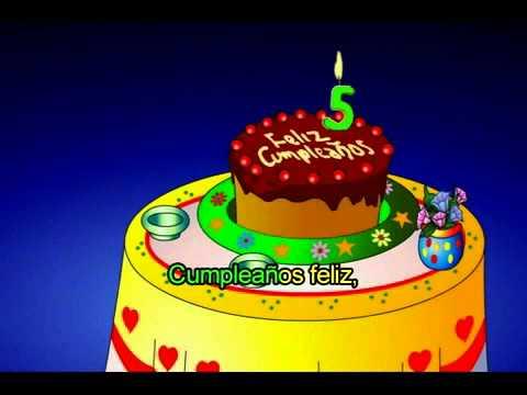 Feliz Cumpleaños infantil para niños 2014 - cancion infantil feliz cumpleaños.