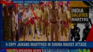 Bihar: 9 braves martyred in Ambush; wreath laying ceremony underway - NEWSXLIVE
