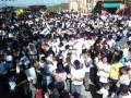 marcha arenera en santiago Texacuangos en el cierre de la campania 2012-2015. imagenes