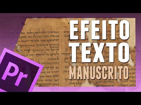 Premiere Pro CS5 - Efeito Texto Manuscrito (HD).