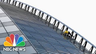 """French Spider-Man"" Climbs Skyscraper To Help Save Crumbling Icon 