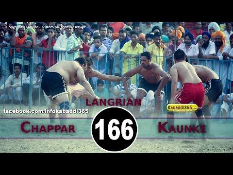 Chappar Vs Kaunke Best Match in Langrian (Malerkotla) By Kabaddi365.com