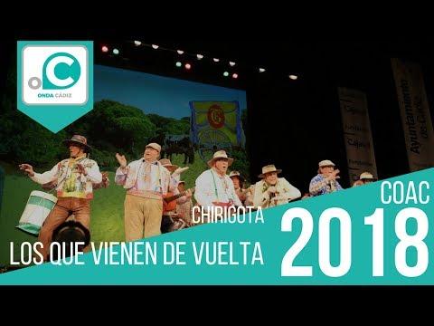 Sesión de Preliminares, la agrupación Los que vienen de vuelta actúa hoy en la modalidad de Chirigotas.
